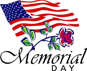 Memorial Day Holiday!