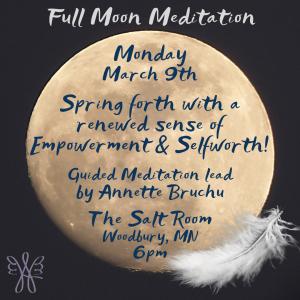Salt Room Full Moon Meditation @ The Salt Room Woodbury
